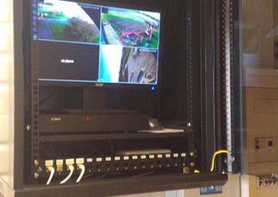 vidéosurveillance d'une salle de fêtes dans une ville près de Caen