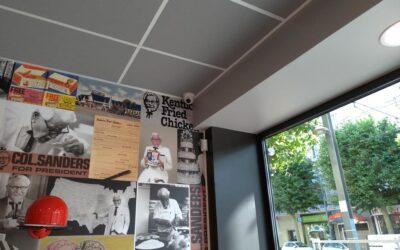 Installation d'une alarme et d'une vidéosurveillance pour un site de restauration rapide, le KFC de Caen (14)