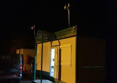 Installation système de vidéosurveillance pour déchetterie