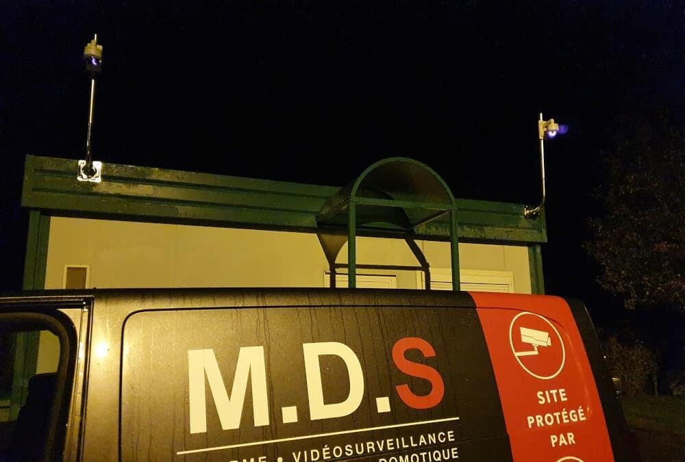 Installation d'un système de vidéosurveillance dans une déchetterie du groupe SEROC près de Bayeux