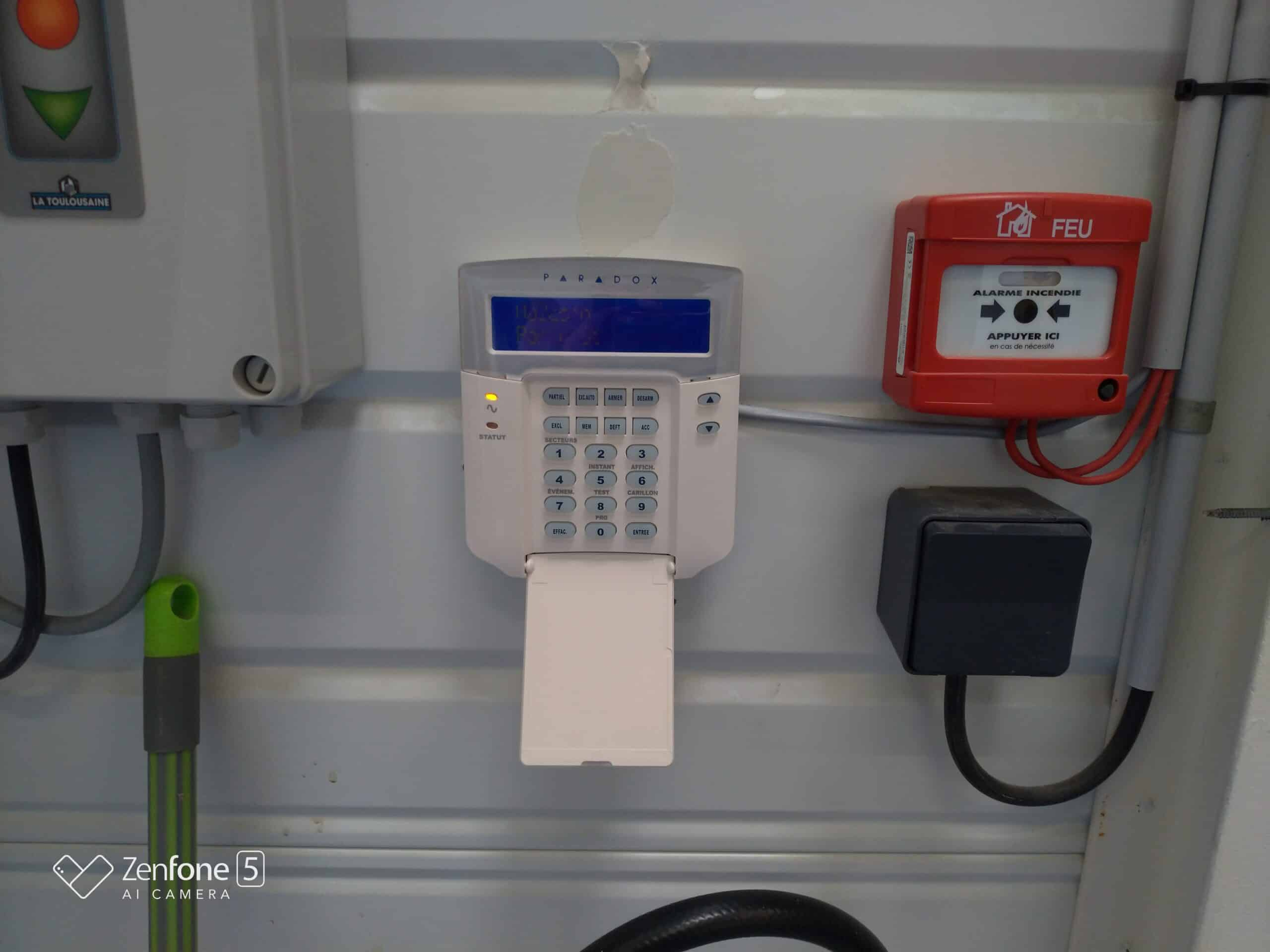 Installation alarme magasin alimentaire