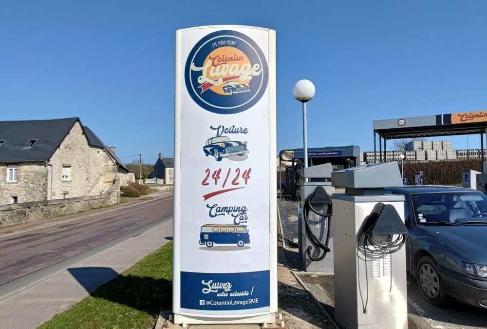 Installation d'un système de vidéosurveillance dans deux stations lavage près de Coutances