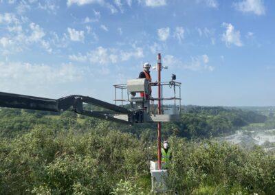 Installation d'un système de caméras de surveillance pour une des carrières de GFCIE située à Vaubadon (Calvados – 14)