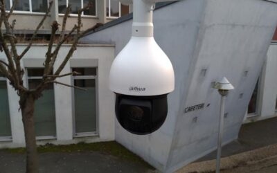 Installation d'un contrôle d'accès et d'un système de vidéosurveillance dans un lycée près de Rouen.