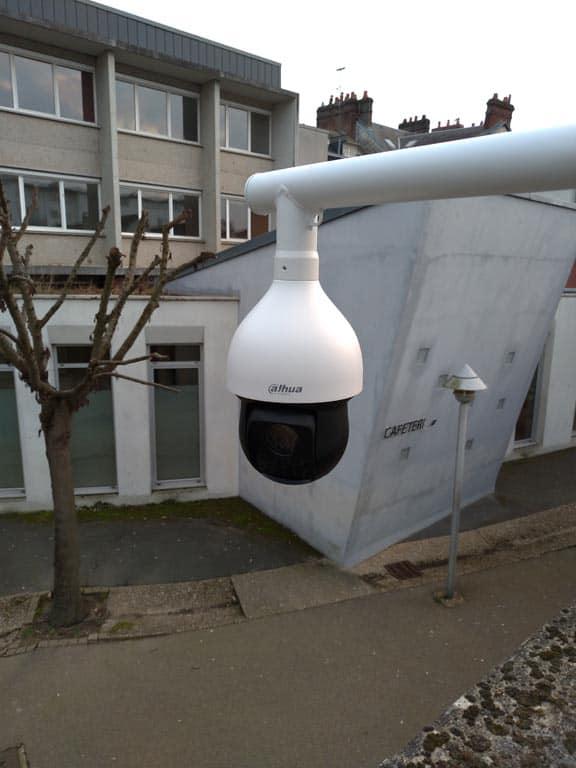 Installation d'un contrôle d'accès et de vidéosurveillance dans un lycée près de Rouen